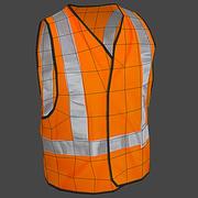 Safety Vest Construction Reflective PPE 3d model