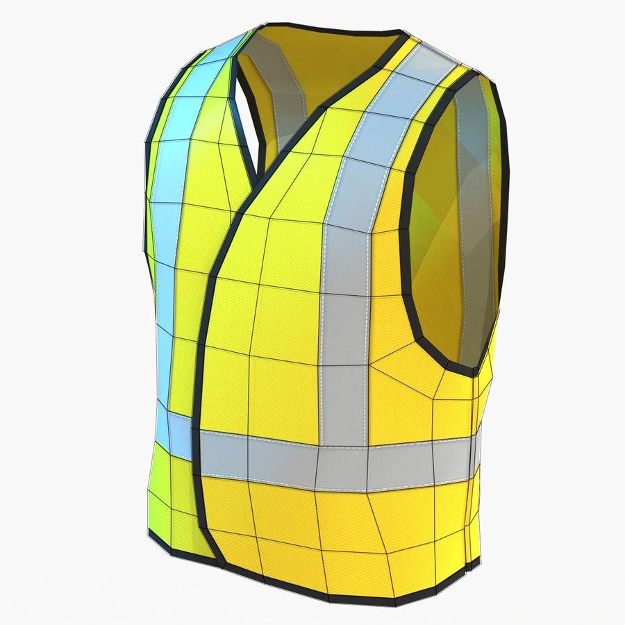 EPP alto da visibilidade da construção da veste da segurança royalty-free 3d model - Preview no. 3