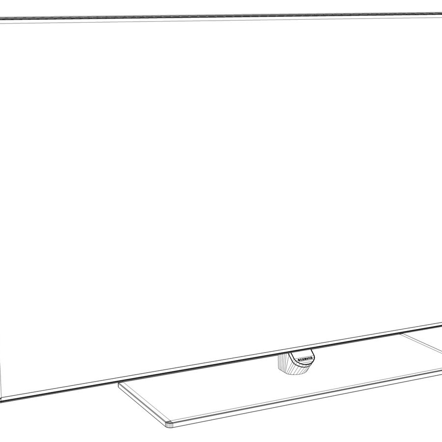 Samsung Smart TV 2 royalty-free 3d model - Preview no. 8