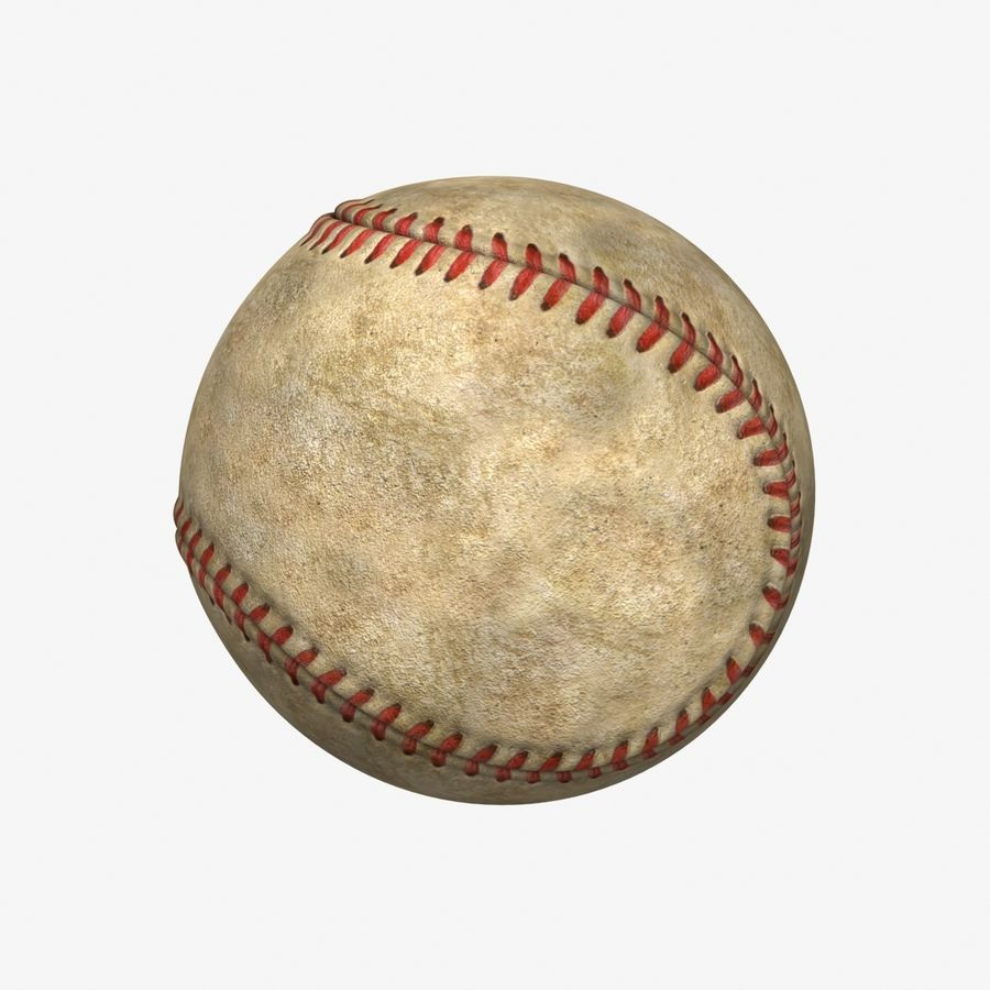 Baseball Dirty royalty-free 3d model - Preview no. 7