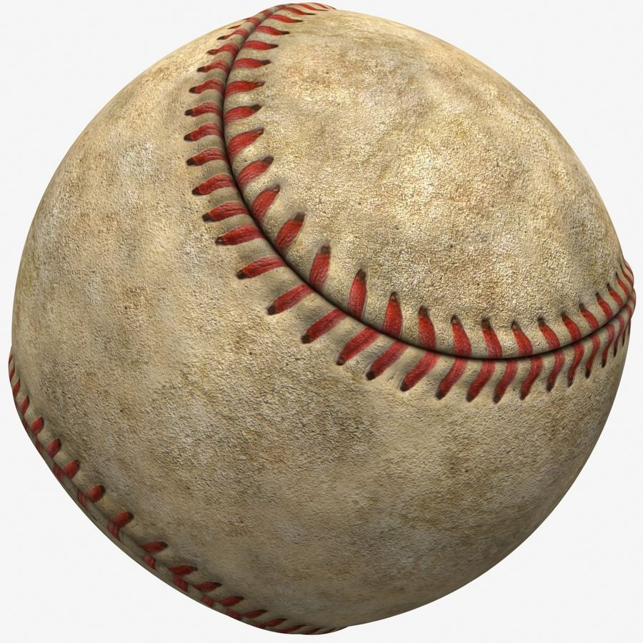 Baseball Dirty royalty-free 3d model - Preview no. 2