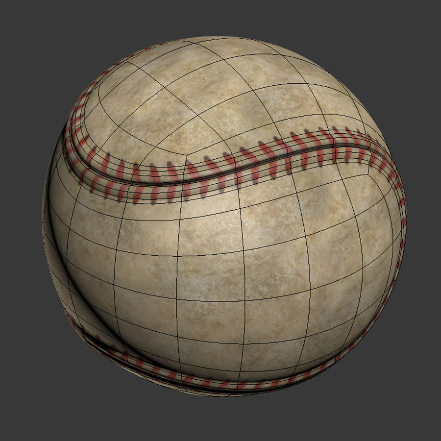 Baseball Dirty royalty-free 3d model - Preview no. 9
