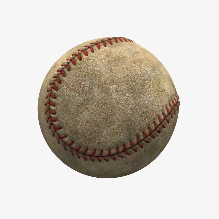 Baseball Dirty royalty-free 3d model - Preview no. 5