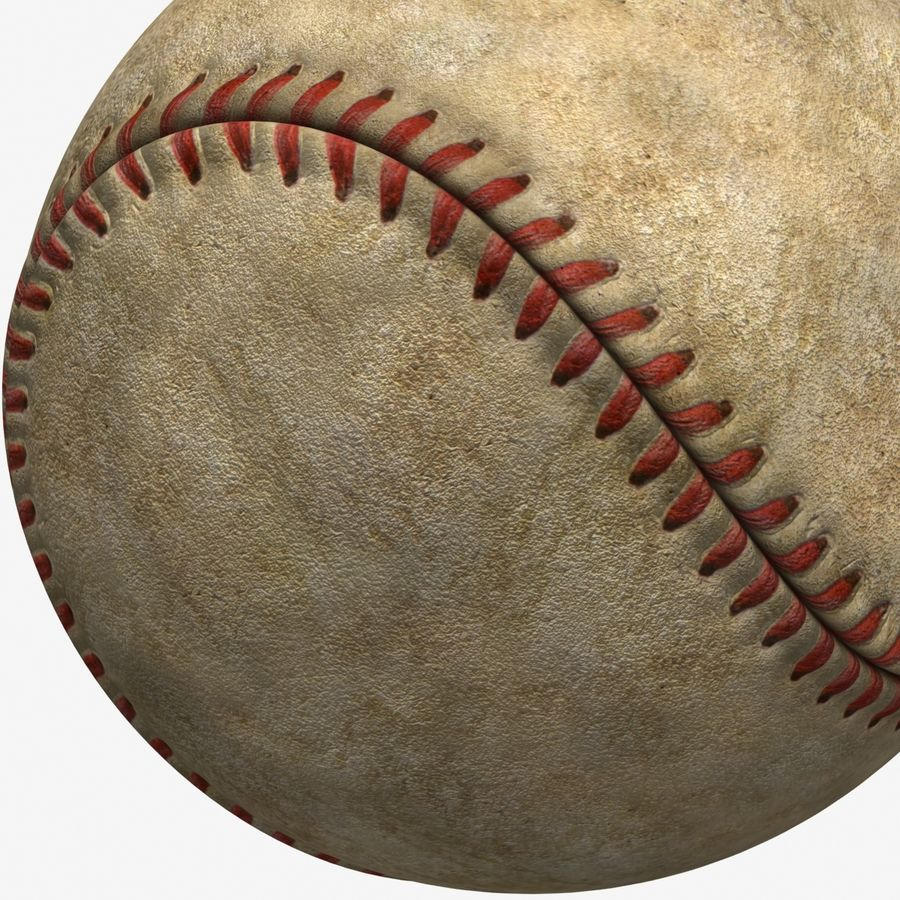Baseball Dirty royalty-free 3d model - Preview no. 8