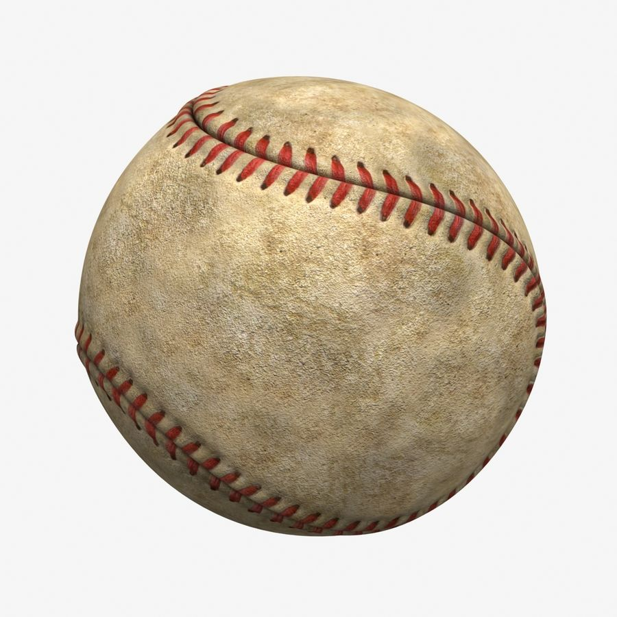 Baseball Dirty royalty-free 3d model - Preview no. 4