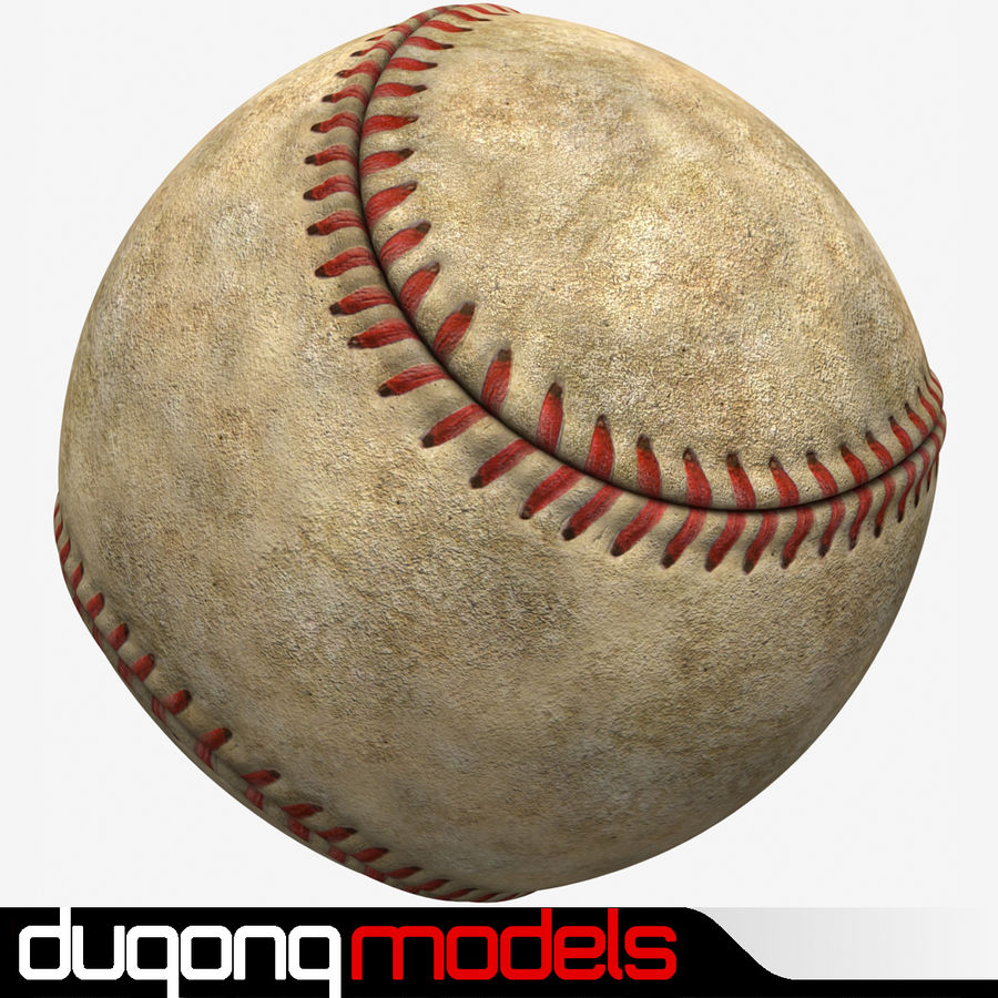 Baseball Dirty royalty-free 3d model - Preview no. 1