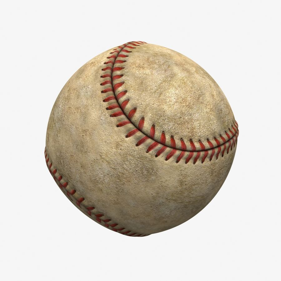 Baseball Dirty royalty-free 3d model - Preview no. 3