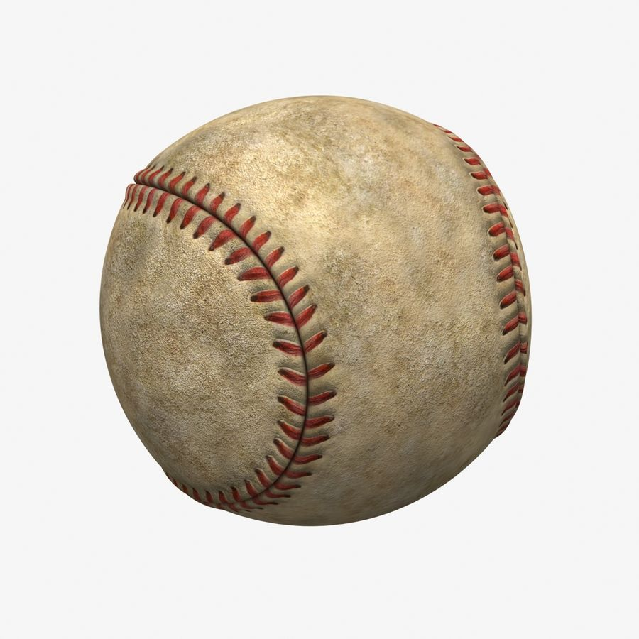 Baseball Dirty royalty-free 3d model - Preview no. 6