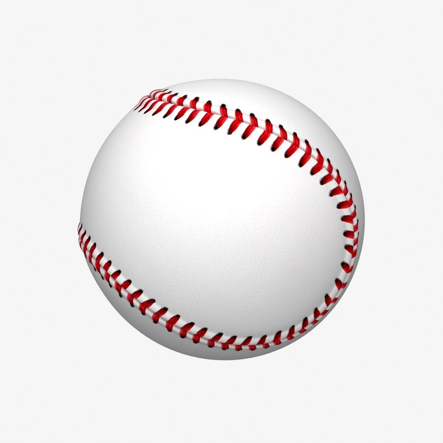 Baseball royalty-free 3d model - Preview no. 7