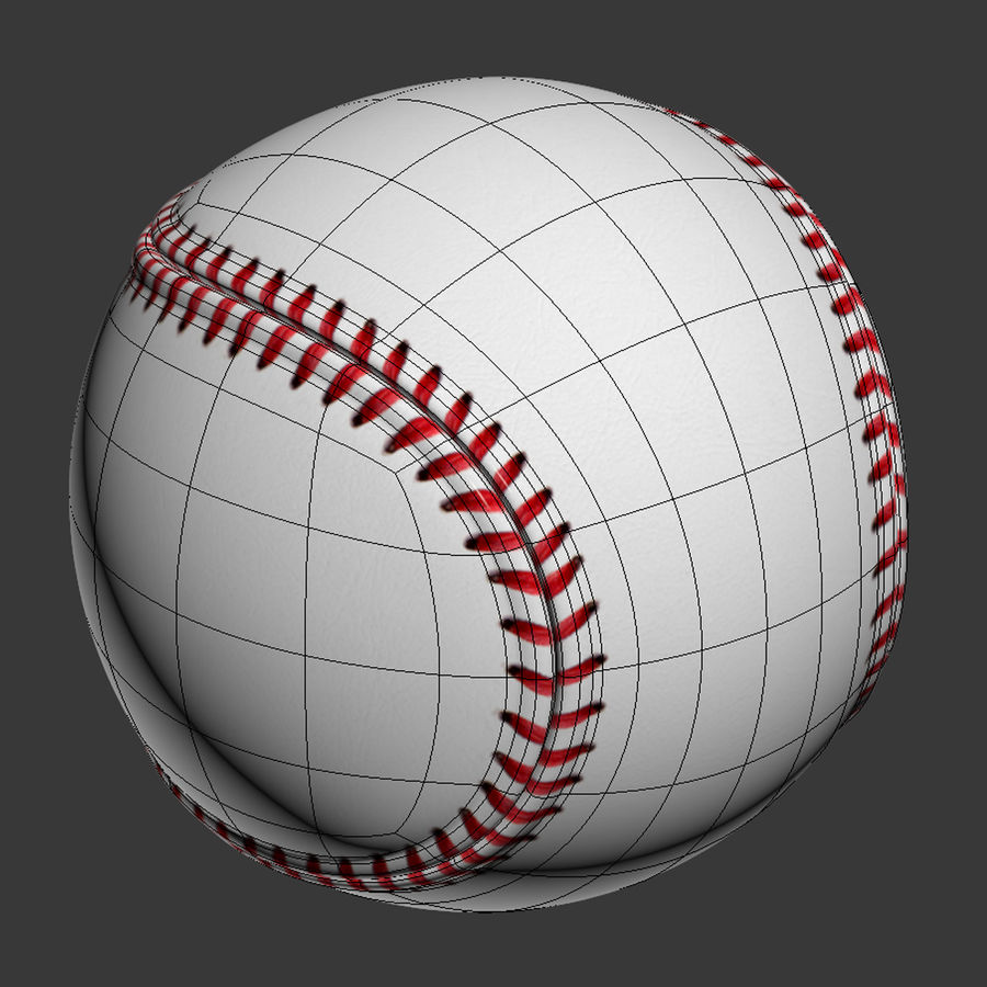 Baseball royalty-free 3d model - Preview no. 9