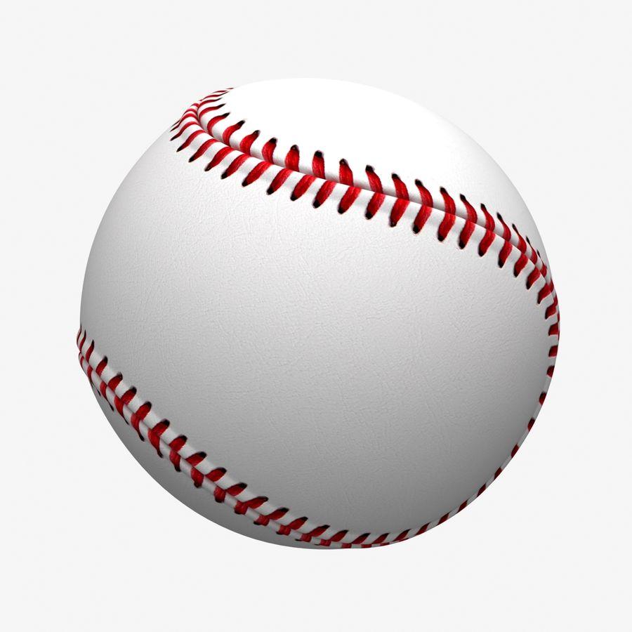 Baseball royalty-free 3d model - Preview no. 4