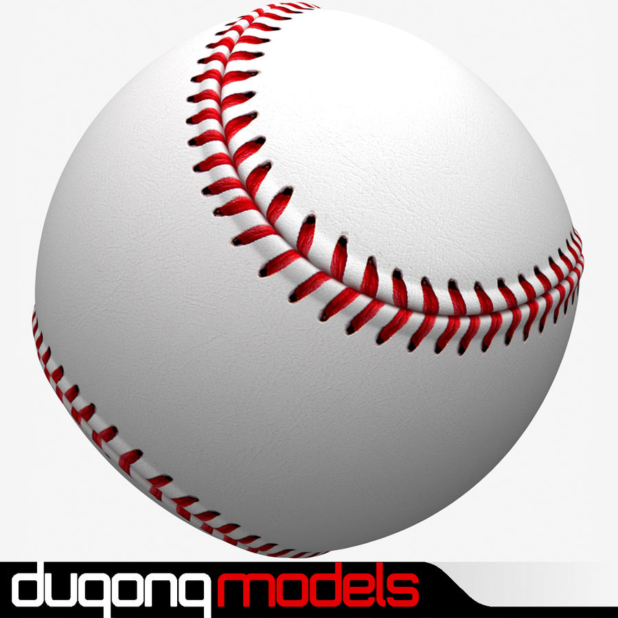 Baseball royalty-free 3d model - Preview no. 1