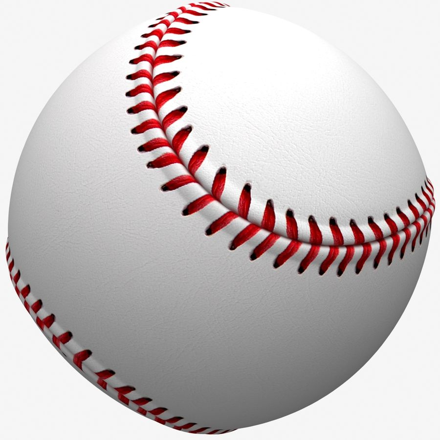 Baseball royalty-free 3d model - Preview no. 2