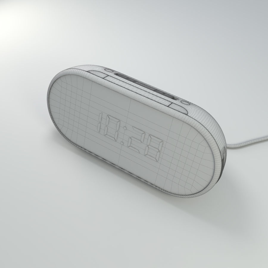 Philips Alarm Clock royalty-free 3d model - Preview no. 10