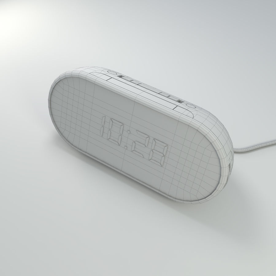 Philips Alarm Clock royalty-free 3d model - Preview no. 9
