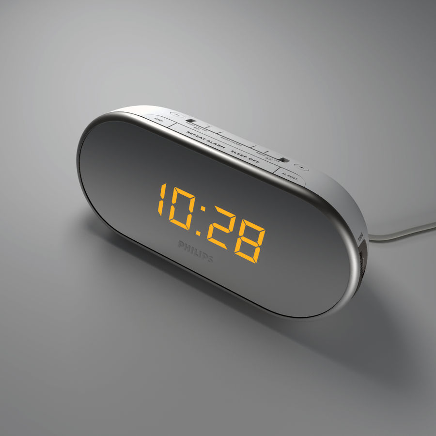Philips Alarm Clock royalty-free 3d model - Preview no. 1