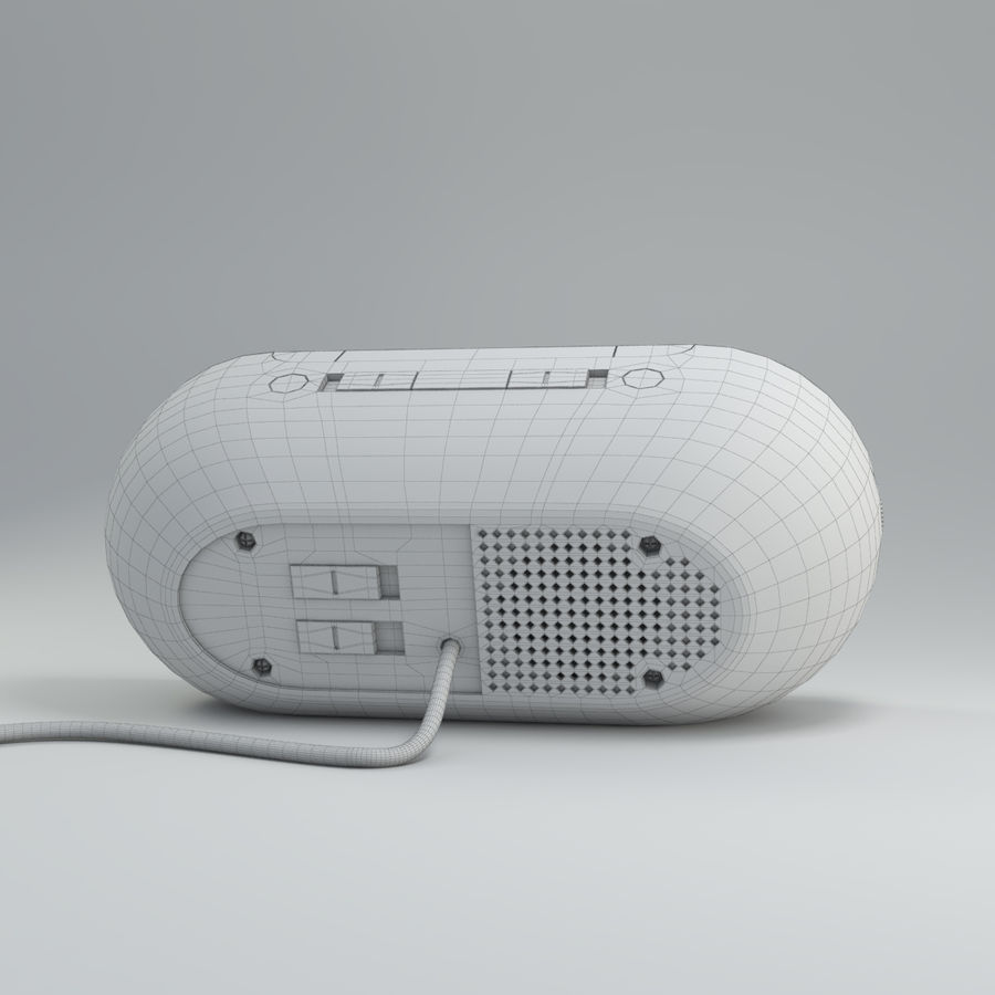 Philips Alarm Clock royalty-free 3d model - Preview no. 7