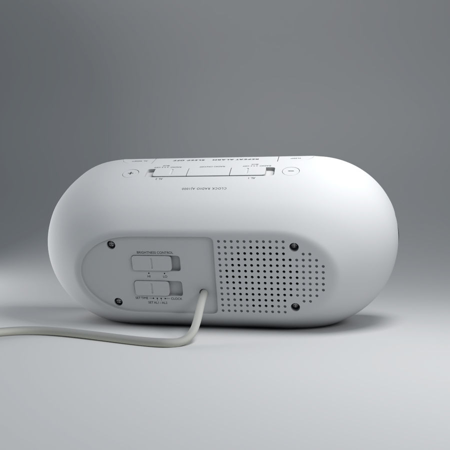 Philips Alarm Clock royalty-free 3d model - Preview no. 3
