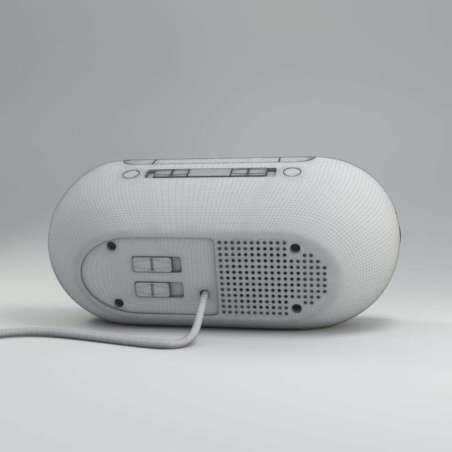 Philips Alarm Clock royalty-free 3d model - Preview no. 8