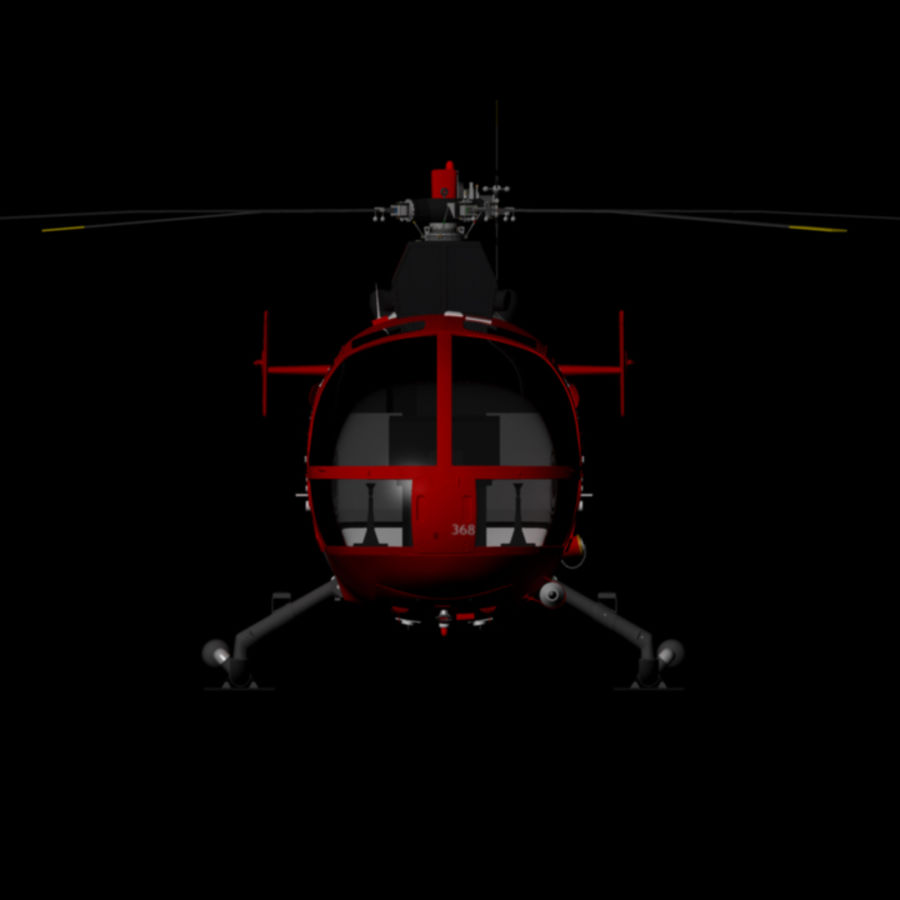 MBB BO 105 royalty-free 3d model - Preview no. 2