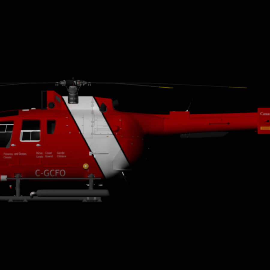 MBB BO 105 royalty-free 3d model - Preview no. 3