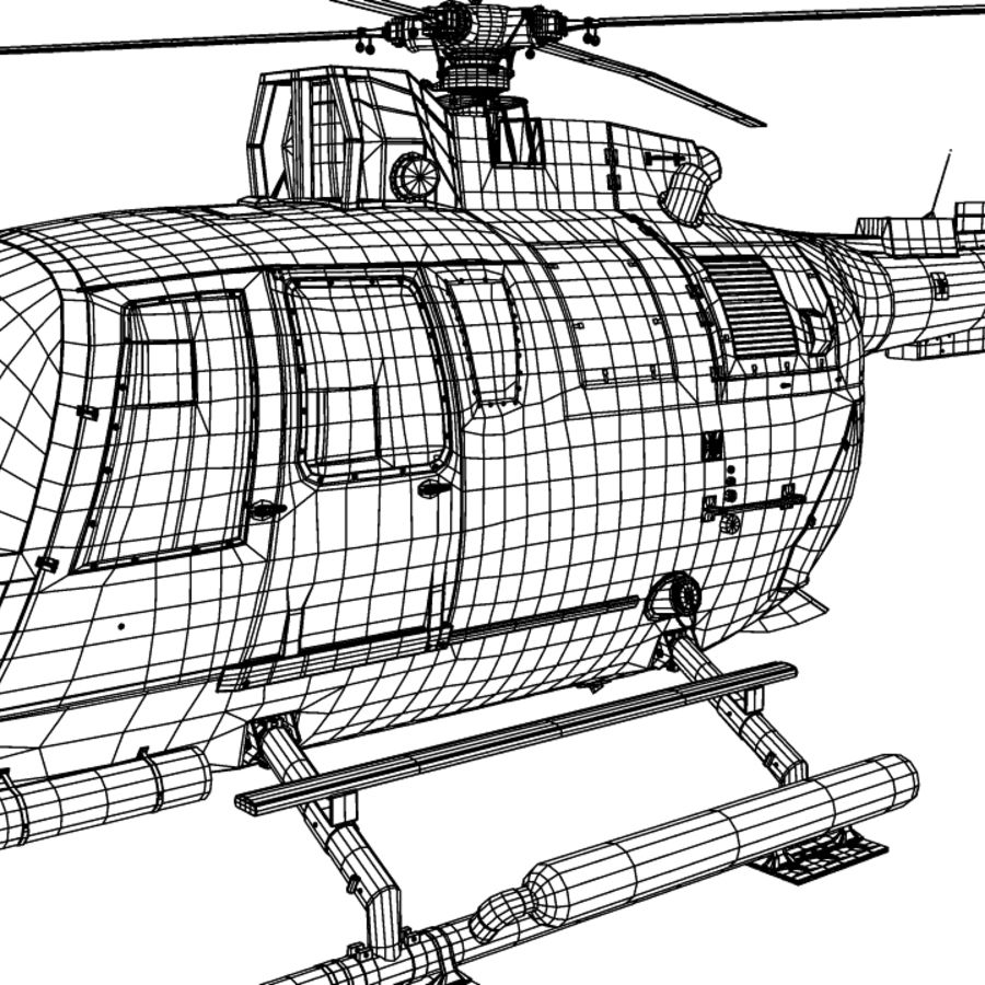 MBB BO 105 royalty-free 3d model - Preview no. 11