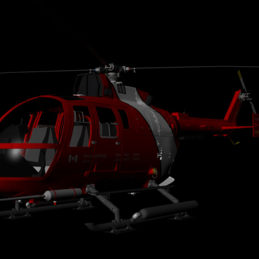 MBB BO 105 royalty-free 3d model - Preview no. 1