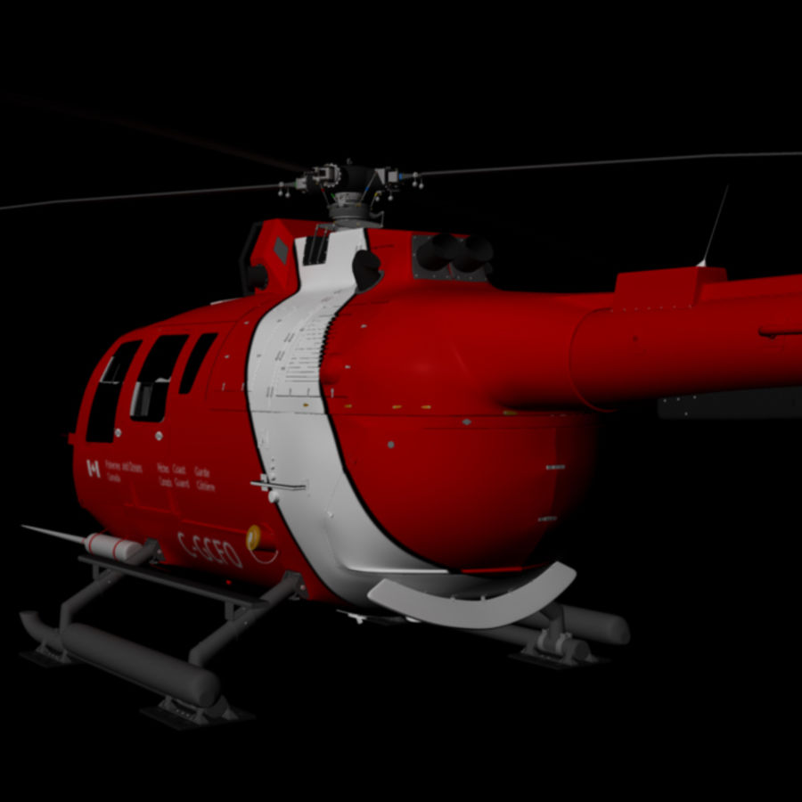 MBB BO 105 royalty-free 3d model - Preview no. 8