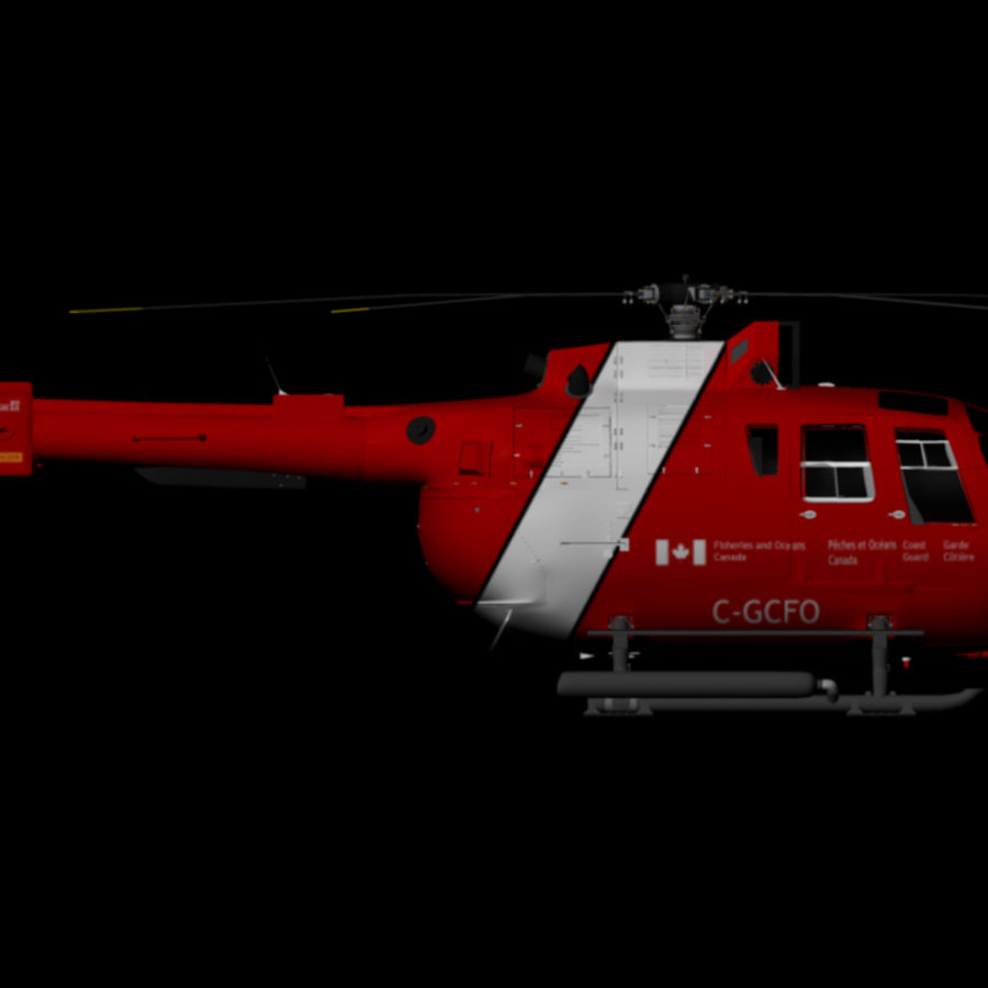 MBB BO 105 royalty-free 3d model - Preview no. 5