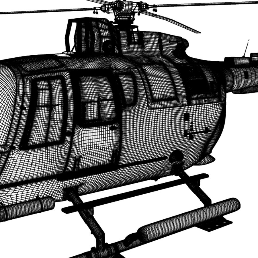 MBB BO 105 royalty-free 3d model - Preview no. 12