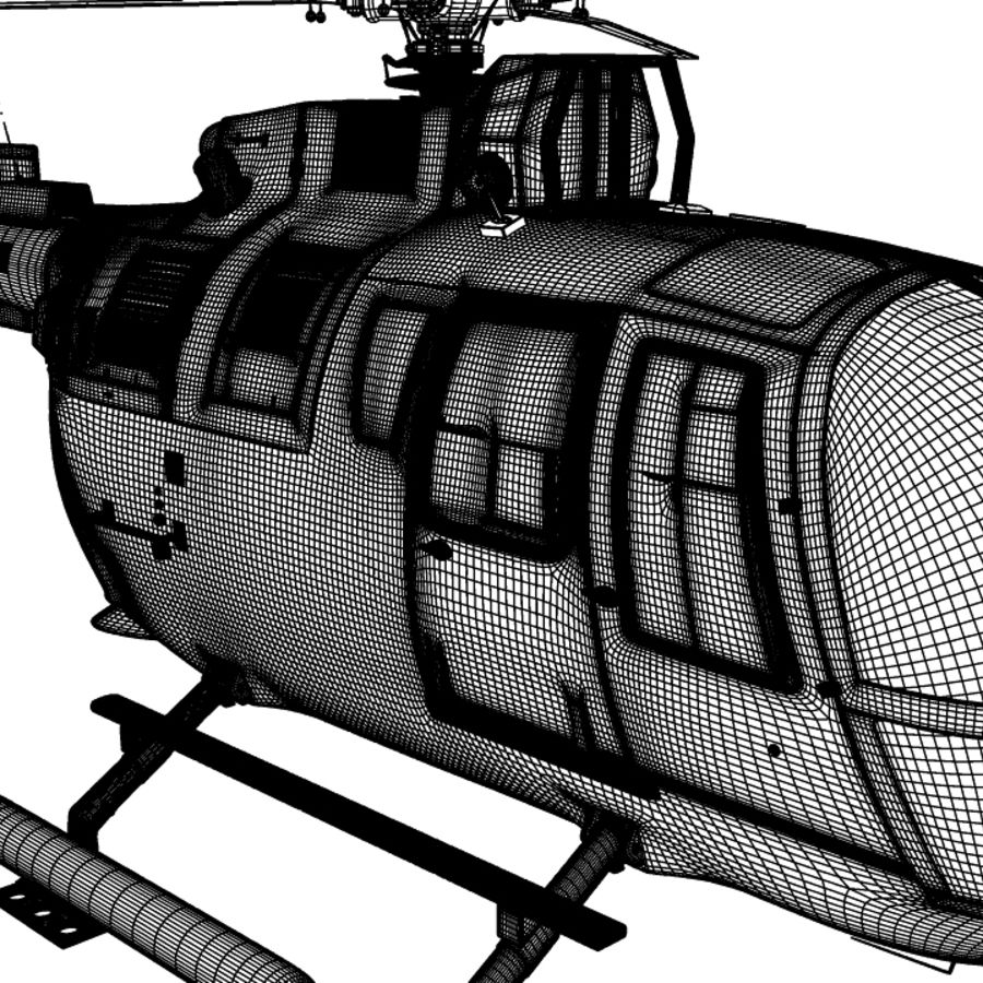 MBB BO 105 royalty-free 3d model - Preview no. 13