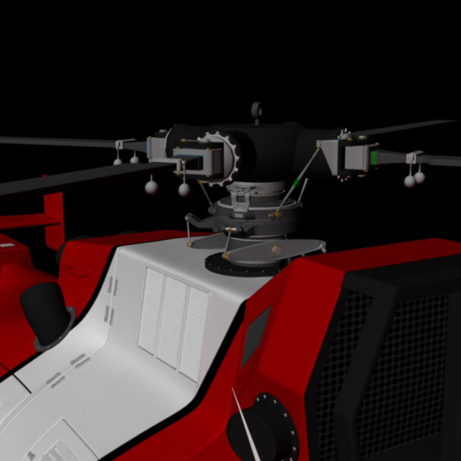 MBB BO 105 royalty-free 3d model - Preview no. 7