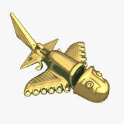 Golden Aircraft Type A 3d model