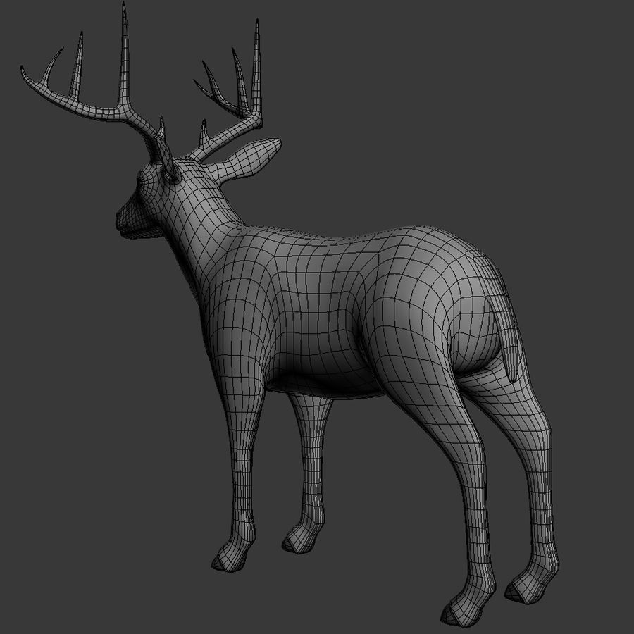 Hirsch royalty-free 3d model - Preview no. 13