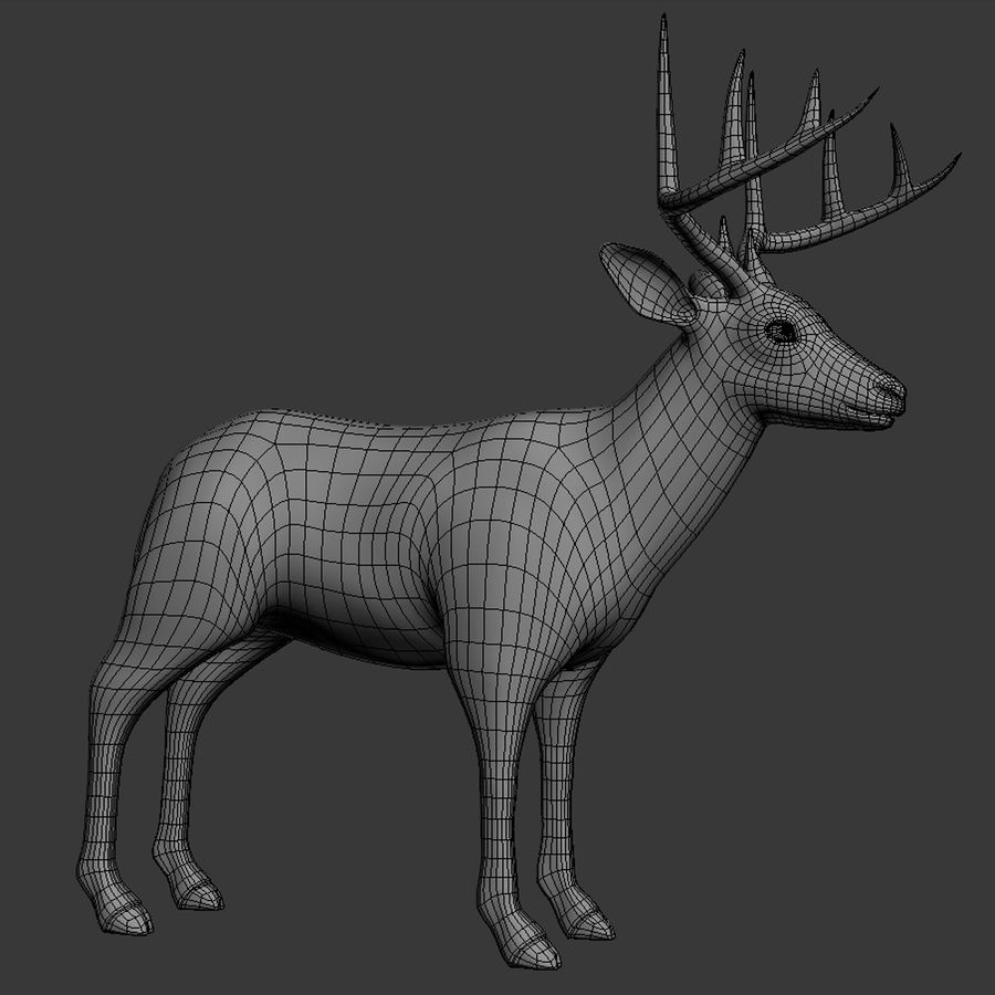 Hirsch royalty-free 3d model - Preview no. 12