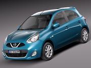 Nissan Micra 2014 3d model