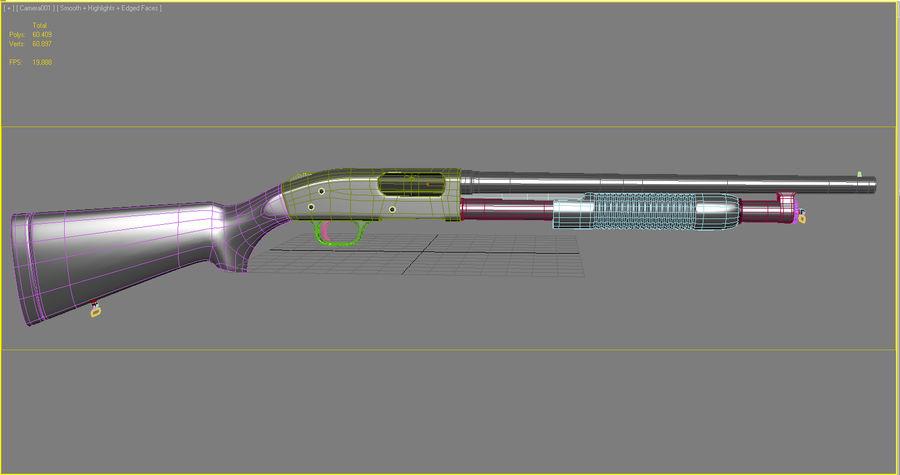 散弾銃 royalty-free 3d model - Preview no. 9