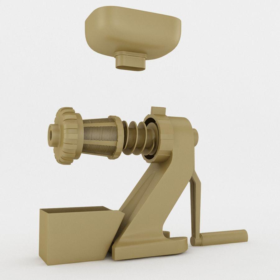 Ручная ручная соковыжималка royalty-free 3d model - Preview no. 6