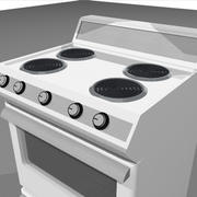 Stove / Oven With Opening Door and Drawer: C4D Format 3d model