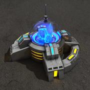 Crystal powerplant sci-fi-byggnad 3d model