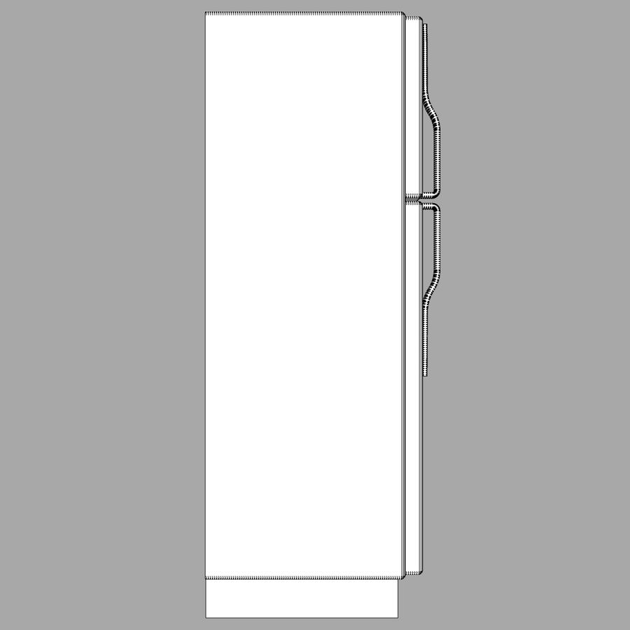 Refrigerator With Opening Doors royalty-free 3d model - Preview no. 19
