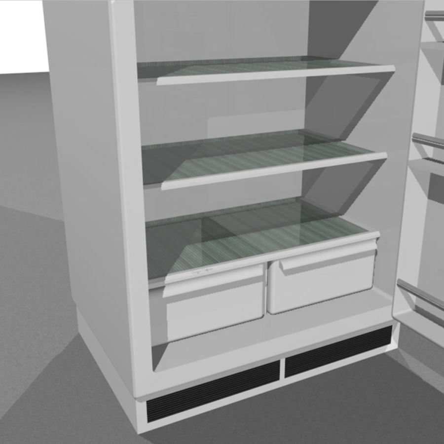 Refrigerator With Opening Doors royalty-free 3d model - Preview no. 14