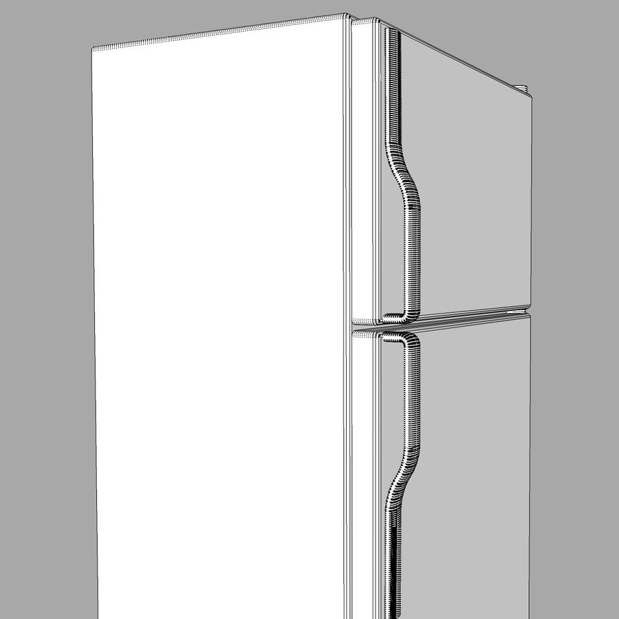 Refrigerator With Opening Doors royalty-free 3d model - Preview no. 25