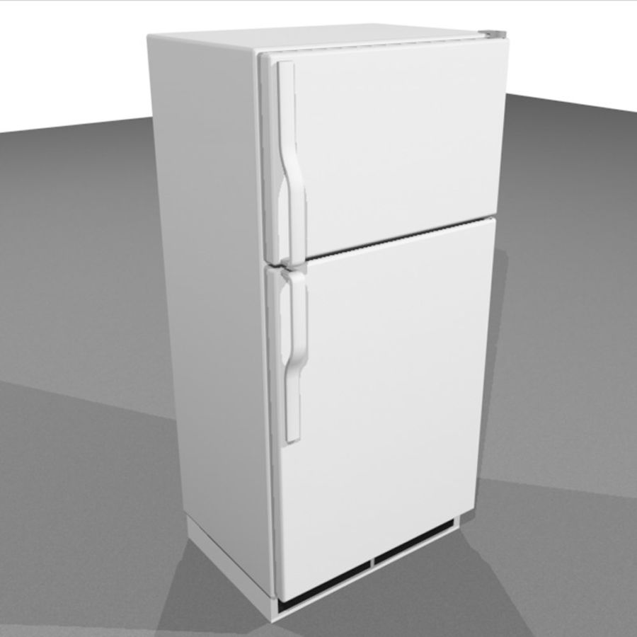 Refrigerator With Opening Doors royalty-free 3d model - Preview no. 6