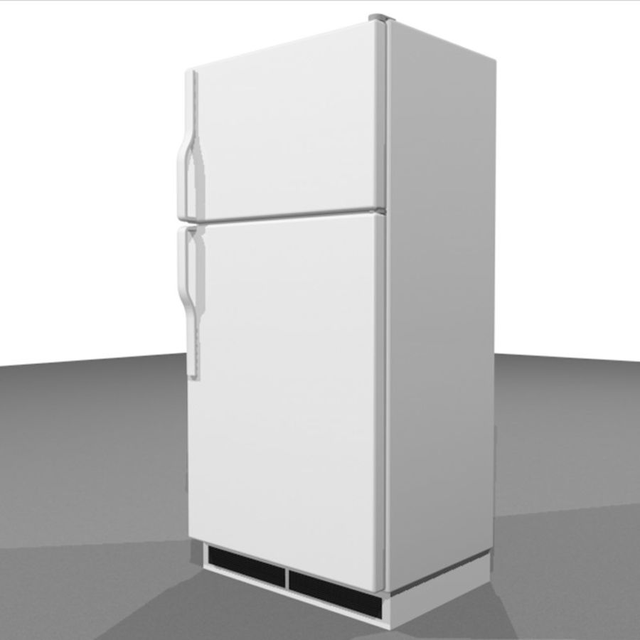 Refrigerator With Opening Doors royalty-free 3d model - Preview no. 9