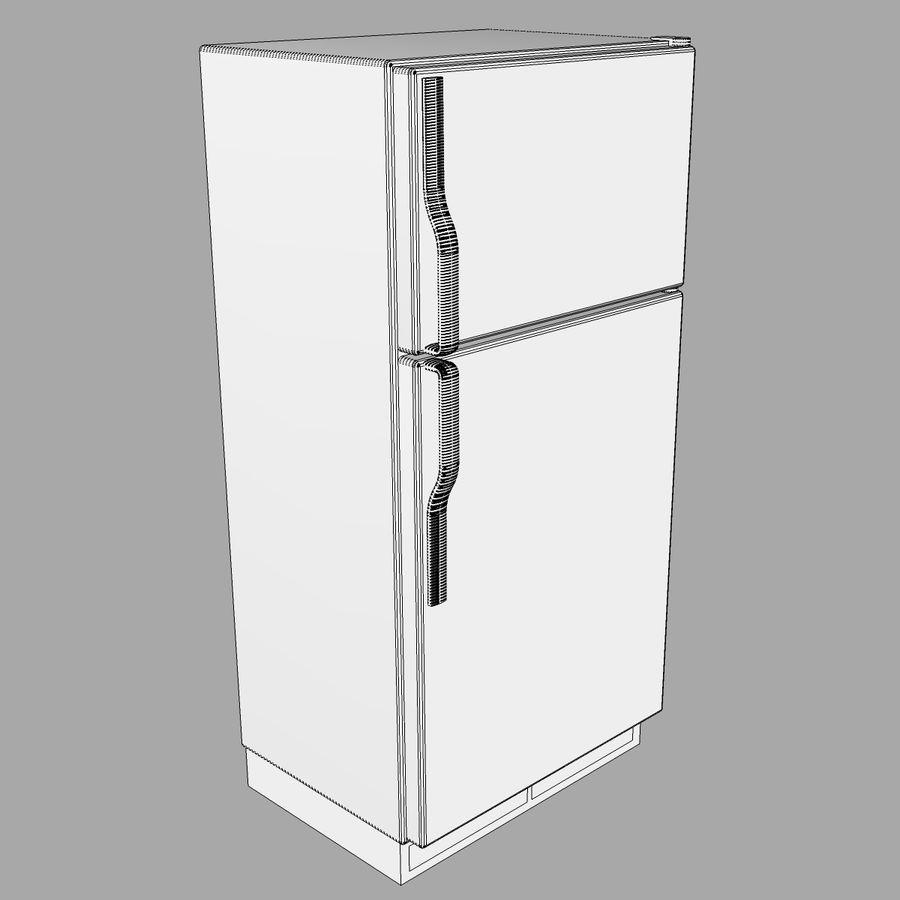 Refrigerator With Opening Doors royalty-free 3d model - Preview no. 21
