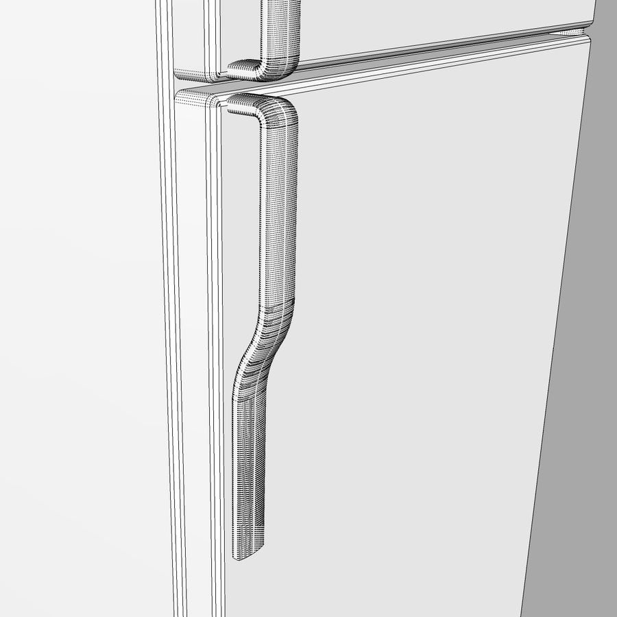 Refrigerator With Opening Doors royalty-free 3d model - Preview no. 23