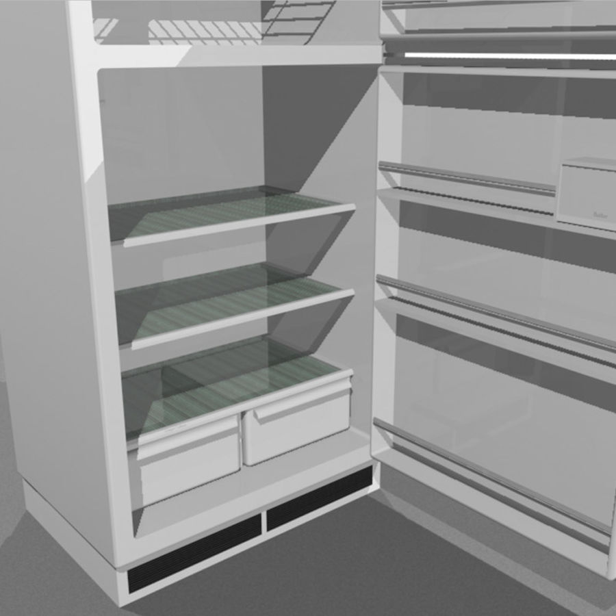 Refrigerator With Opening Doors royalty-free 3d model - Preview no. 15