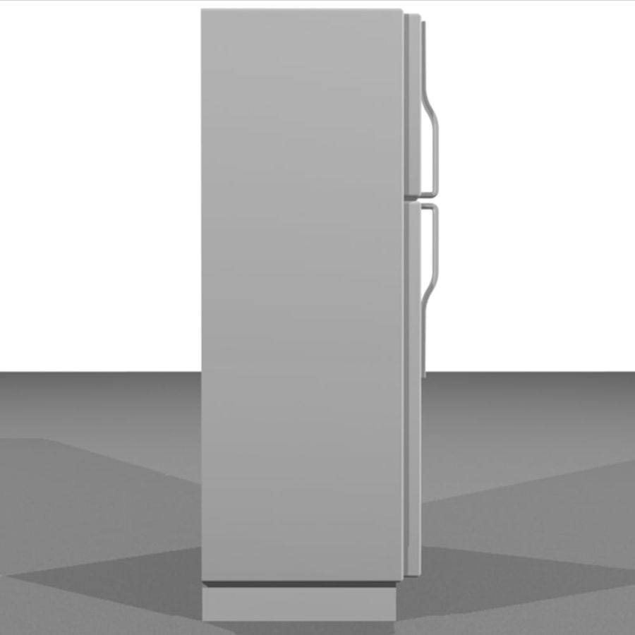 Refrigerator With Opening Doors royalty-free 3d model - Preview no. 4
