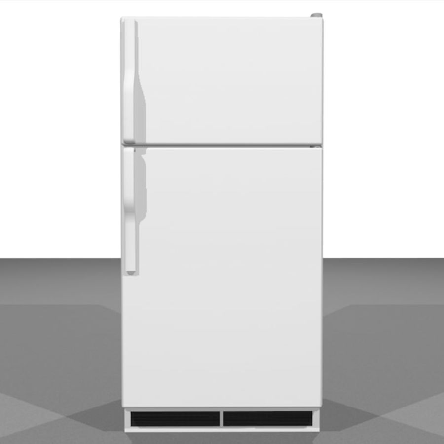 Refrigerator With Opening Doors royalty-free 3d model - Preview no. 2